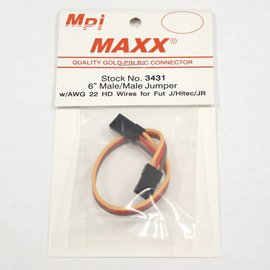 """Male to Male Jumper 6"""" Universal 22awg"""