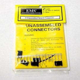 EMS Unassembled Male Servo Connectors Futaba  J (5)