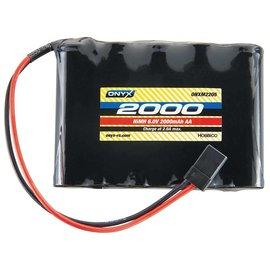Onyx NiMH 4.8V 2000mAh AA Flat Receiver Universal Plug