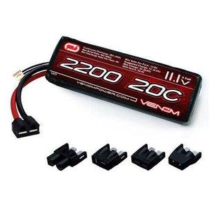 20C 11.1V 2200mAh 3S LiPo Battery: UNI Plug