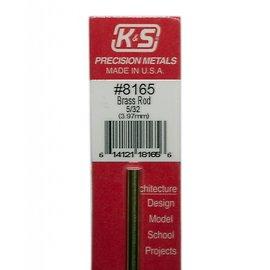"Solid Brass Rod 8165 5/32"" 12"""