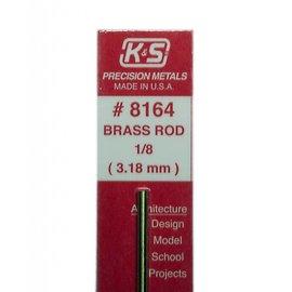 "Solid Brass Rod 8164 1/8"" 12"""