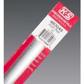 """83048 Solid Aluminum Rod 1/2"""" 12"""""""