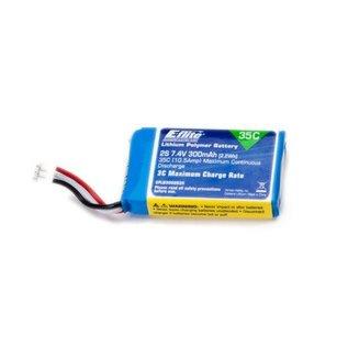 300mAh 2S 7.4V 35C LiPo Battery