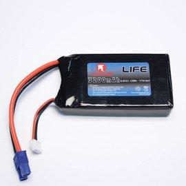 YunTong 6.6 V 3200 mAh  LiFe Battery RX
