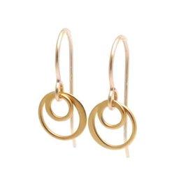 GF Double Ring Earrings