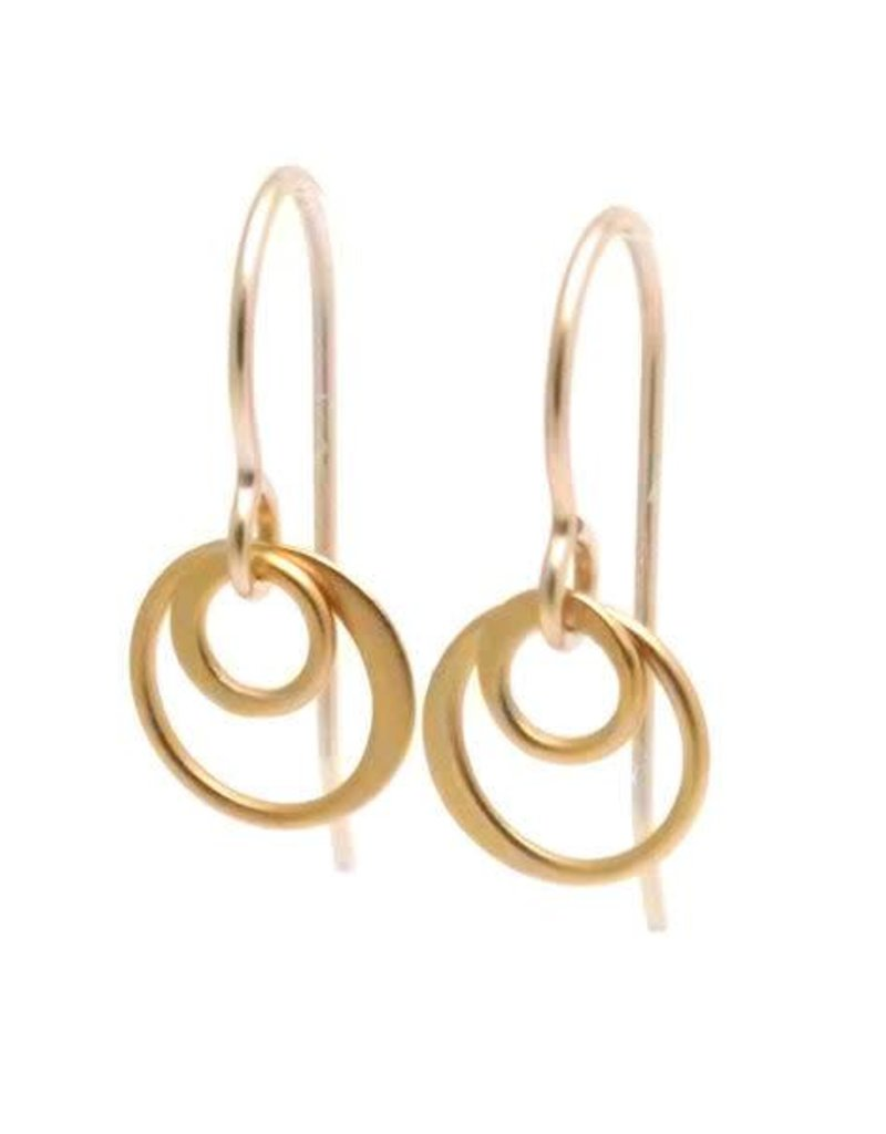 GF Double Ring Earrings
