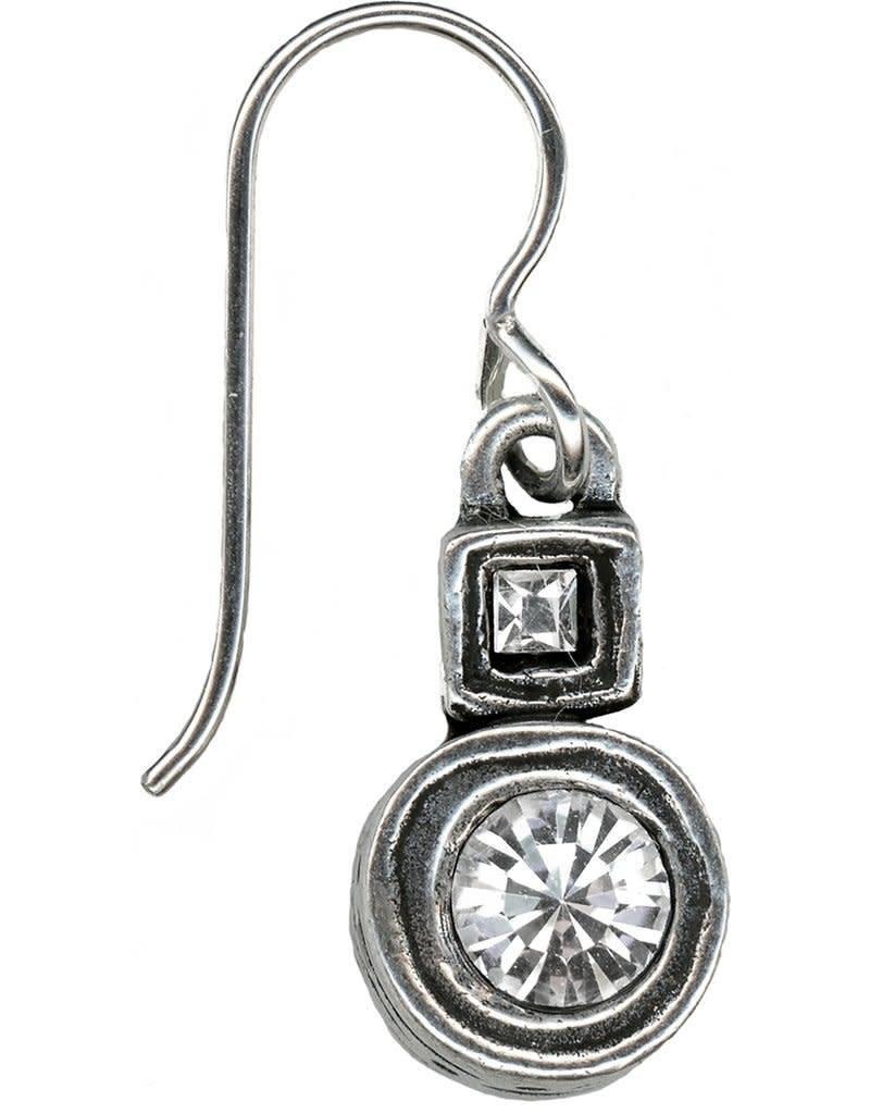 Morse Code Earrings-Silver