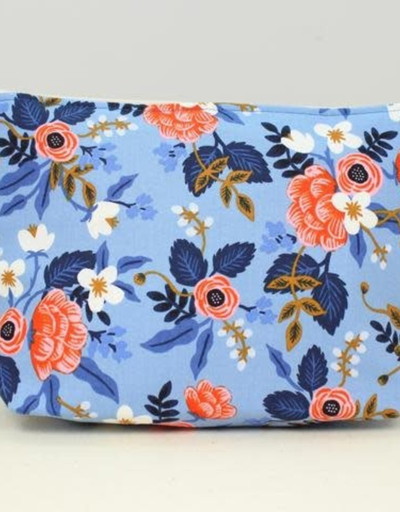 Large Cosmetic Bag-Periwinkle Floral