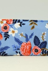 Small Cosmetic Bag-Periwinkle Floral