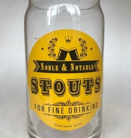 IPA or Stout Beer Glass
