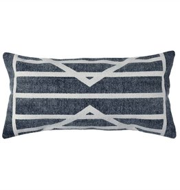 Block Print Lumbar Pillow Centerpoint Stripe  - 12x24