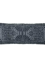 Indigo Batik Lumbar Pillow-14x36