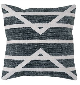 Block Print Pillow Centerpoint Stripe - 16x16