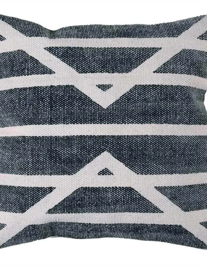 Block Print Pillow-16x16-Centerpoint Stripe