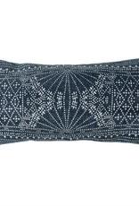 Indigo Batik Lumbar Pillow-12x24