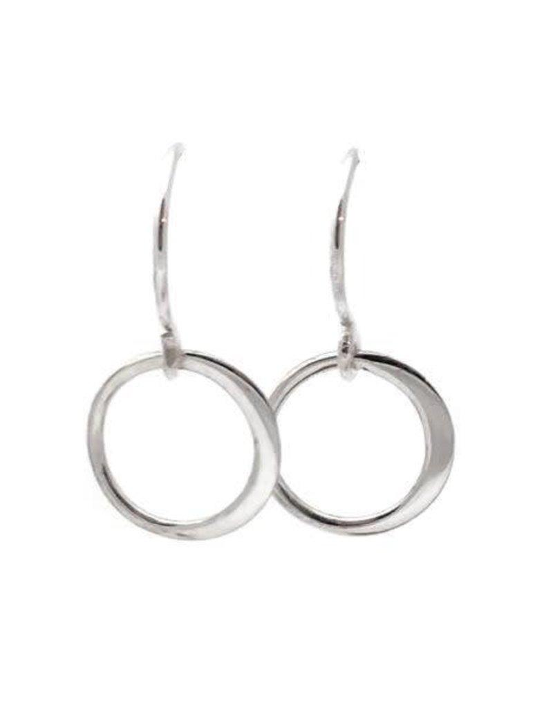 Sterling Silver Single Ring Earrings