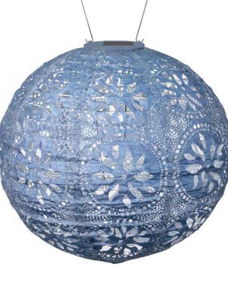 Boho Metallic Blue Lantern