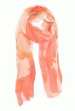 Coral Watercolor Scarf