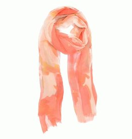 Coral Watercolor Scarf