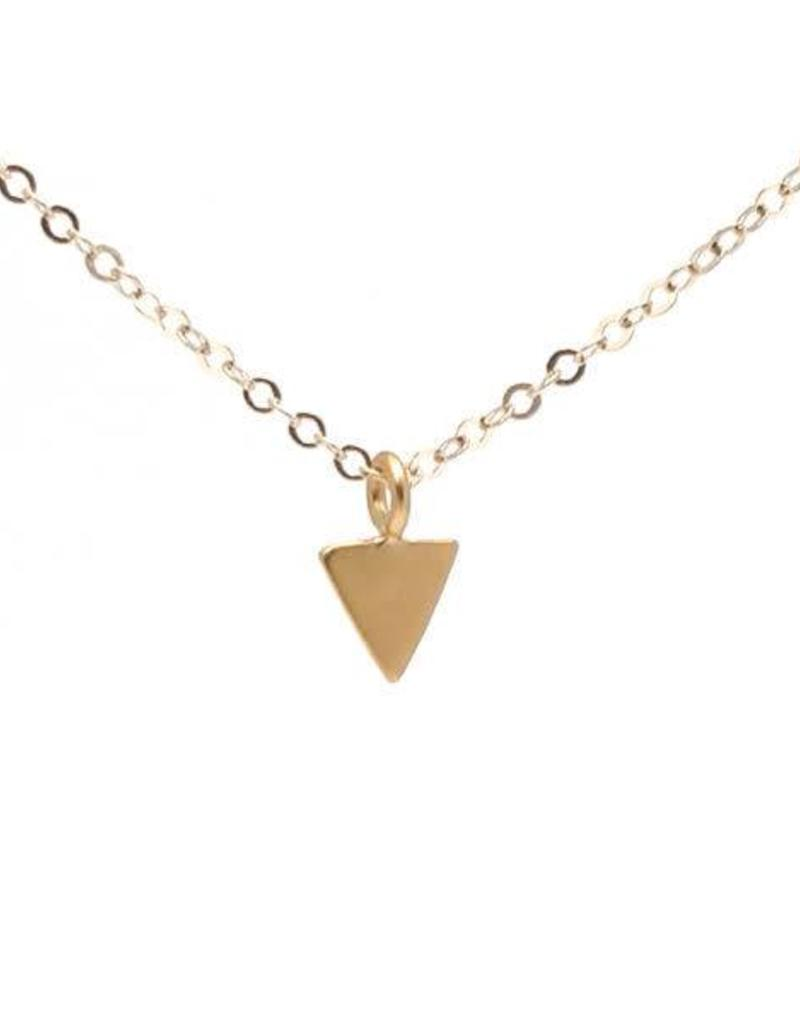 Gold Fill Triangle Necklace