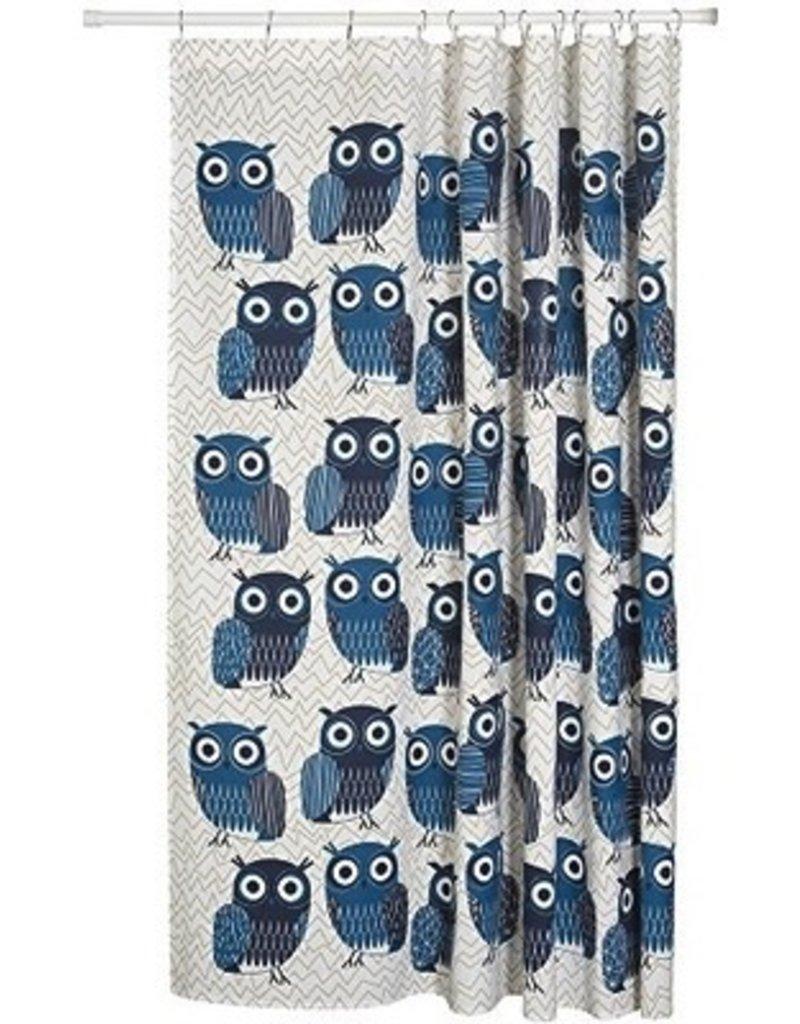 Danica Studio Shower Curtain Blue Owls