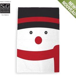 Myles International Snowman Print Tea Towel