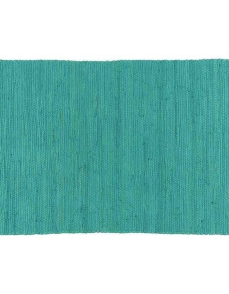 Stitch & Shuttle Solid Chindi Rug, Turquoise, 2\'x3\' - Rambles ...