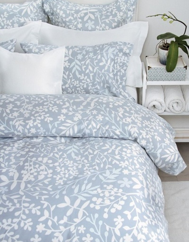 Cuddle Down Forest Blue King Duvet Cover Set With 2 Shams