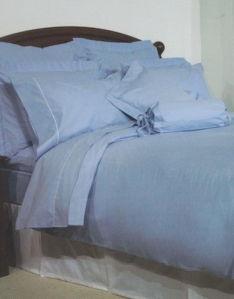 Cuddle down chambray blue duvet set queen