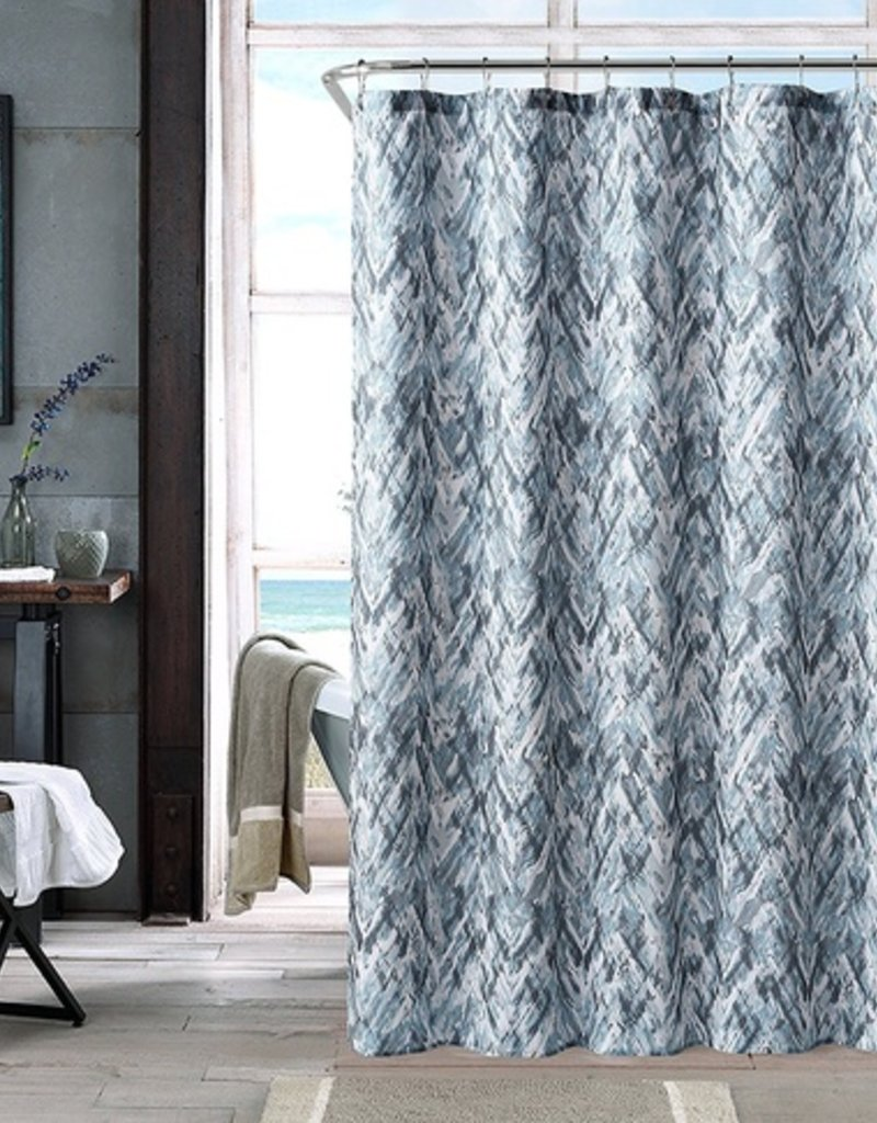 Intermark Neila Blue Gray Shower Curtain