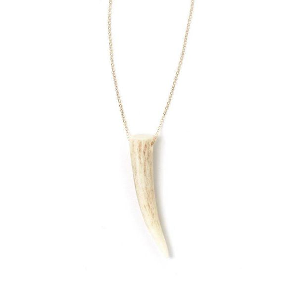 Tess + Tricia Classic Antler Tip Necklace