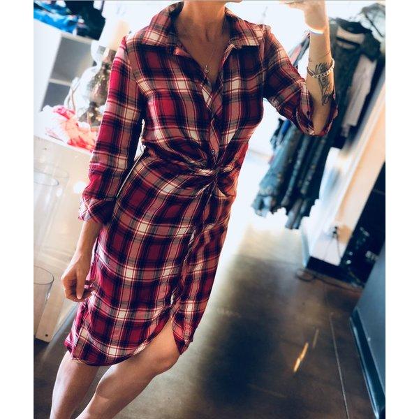 Plaid Twist Dress