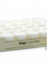Tag ltd 24-HR Votive Candle, White