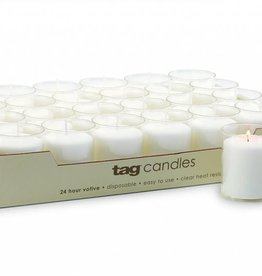 Tag ltd 24-HR Votive Candle, White