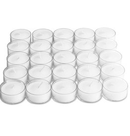 Tag ltd 25 Clear Cup Tealights, White