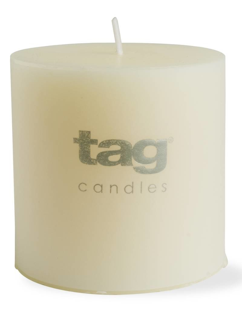 Tag ltd 3x3 Chapel Pillar Candle, Ivory