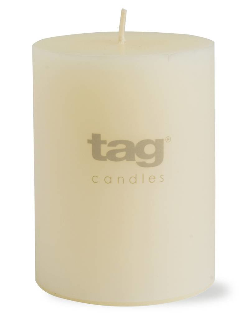 Tag ltd 3x4 Chapel Pillar Candle, Ivory
