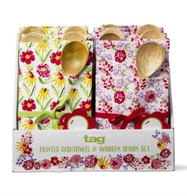 Tag ltd Fresh Flower Dishtowel Giftset