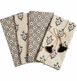 Tag ltd Henna Block Print Set of 4 Napkin Set