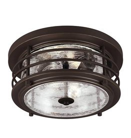 Seagull Lighting Sea Gull Sauganash 2-Light Flush Mount - Antique Bronze