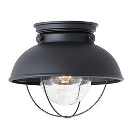 Seagull Lighting SeaGull Sebring 1-Light Outdoor Ceiling Flush Mount