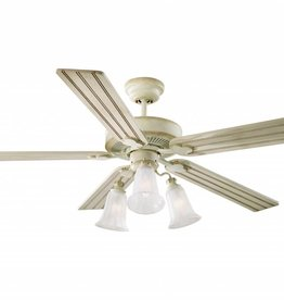 "Monte Carlo Monte Carlo 52"" Old School - Distressed White Ceiling Fan"