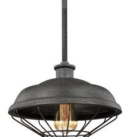 Feiss Feiss Lennex 1-Light Mini Pendant - Slate Grey Metal