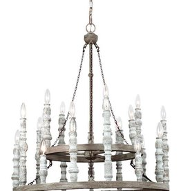 Feiss Feiss Norridge 24-Light Chandelier -  Distressed White