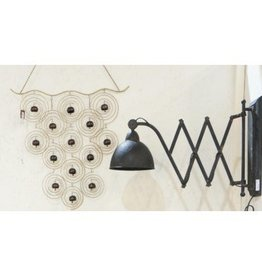 North American Country Home North American Country Home Oliver Extendable Iron Wall Lamp