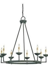 Currey & Co Currey and Company Mole Blackwell 8-Light Chandelier