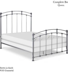 Corsican Queen Iron Bed - Gunmetal