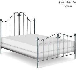 Corsican Queen Iron Bed - Matte White