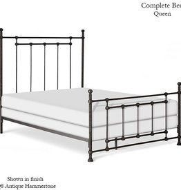 Corsican Queen Iron Bed Frame - Slate